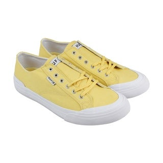 Huf Classic Lo Ess Tx Mens Yellow Textile Lace Up Lace Up Sneakers Shoes