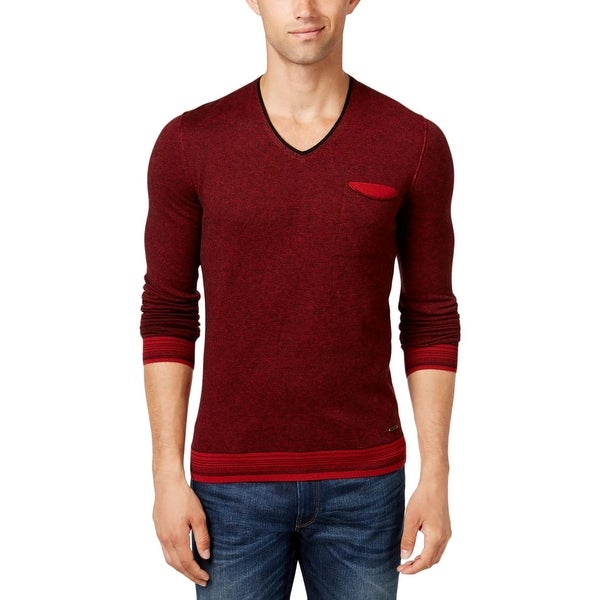 ca2ed2eb4 Shop Boss Orange Mens Kerpen V-Neck Sweater Wool Striped - Free Shipping On  Orders Over $45 - Overstock - 18402445