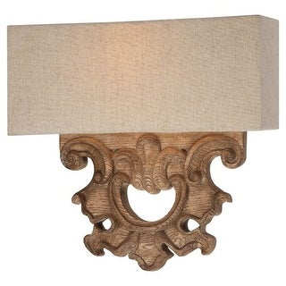 Minka Lavery 5200 2 Light ADA Wall Sconce from the Abbott Place Collection - classic oak patina