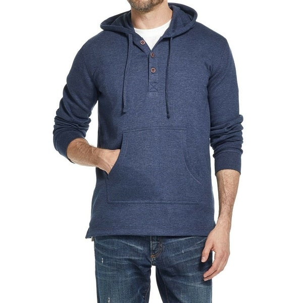Weatherproof Mens Sweater Navy Blue Size Medium M Textured Hooded. Opens flyout.