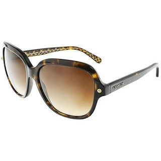 Coach Women's Gradient HC8192-539413-56 Brown Square Sunglasses