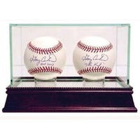 Baseball 2Ball Glass Deluxe Display Case