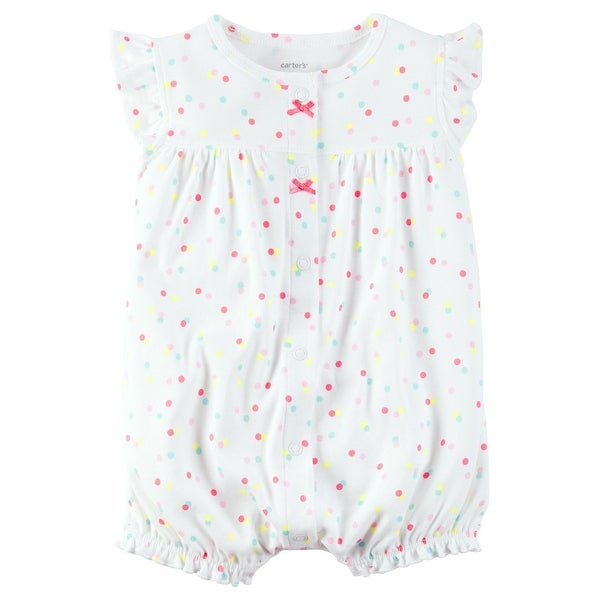 e92326a69bf58 Carter's Baby Girls' Rainbow Snap Up Romper 3 Months - Multi/White