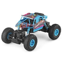 Costway 1:18 2.4G 4WD RC Off-Road Racing Car Radio Remote Control Rock Crawler Truck RTR