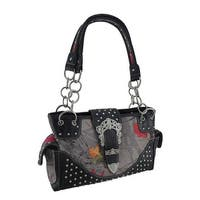 HotLeaf Camo Rhinestone Buckle Studded Concealed Carry Purse