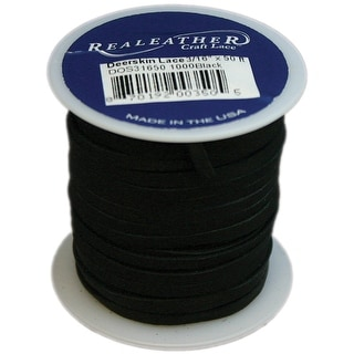"Deerskin Lace .125""X50' Spool-Black - Black"