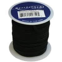 """Deerskin Lace .125""""X50' Spool-Black - Black"""