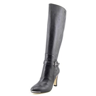 Marc Fisher Ibis Wide Calf Women Round Toe Leather Knee High Boot