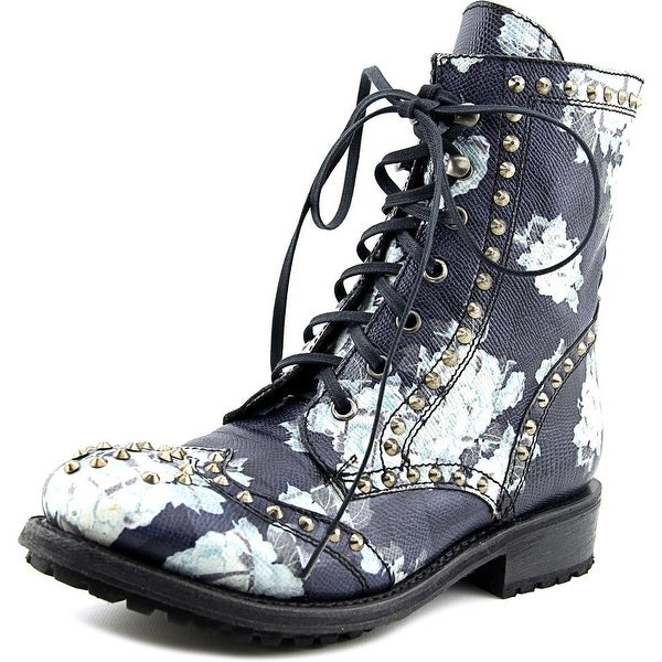 Ash Rare Women Round Toe Leather Mid Calf Boot