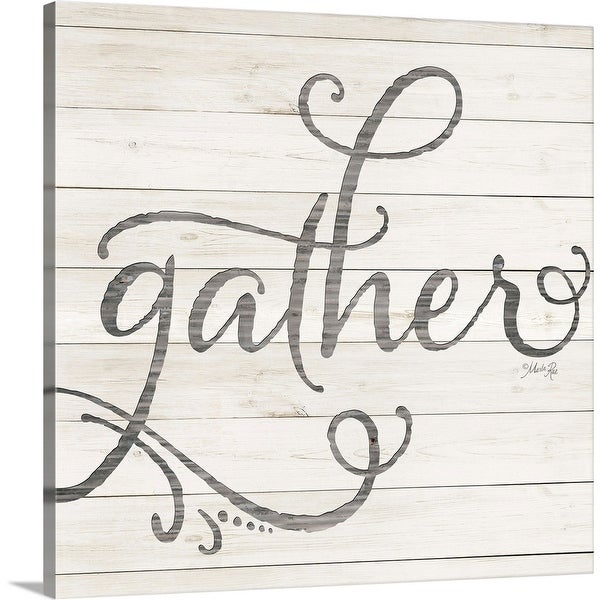"""Simple Words Gather"" Canvas Wall Art"
