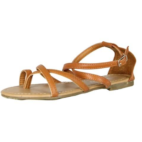Fashion Focus Womens Evita-4 Classic Gladiator Sandals