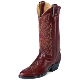 Justin Western Boots Mens Leather Round Marbled Deerlite Chestnut 1560