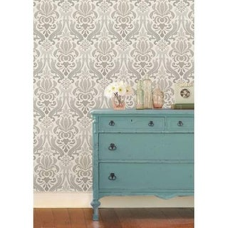 Brewster Nouveau Damask Peel and Stick Wallpaper Nouveau Damask Wall Pops Wallpa