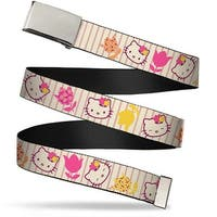 Blank Chrome Bo Buckle Hello Kitty Tulip Expressions Webbing Web Belt