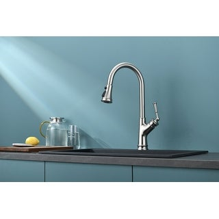 Link to Single-Handle Pull-Down Sprayer Kitchen Faucet Similar Items in Faucets