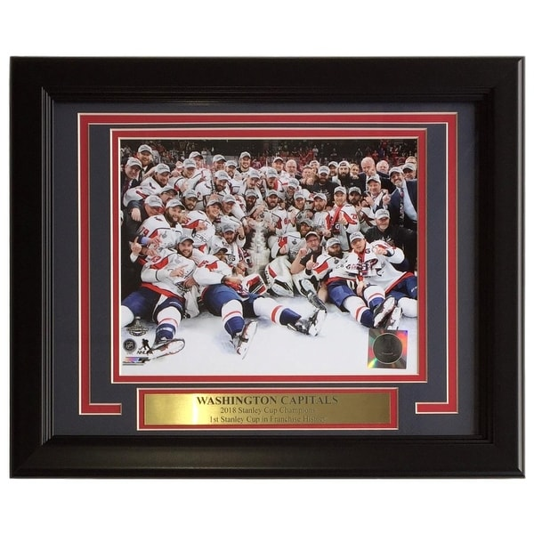 sports shoes 23991 72ca0 Washington Capitals Framed 8x10 2018 Stanley Cup Champions Team Photo