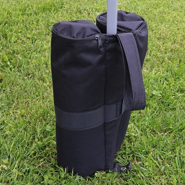 Sunnydaze Set of Four 25 Pound Capacity Weight Bags for Canopies - 15 Inch