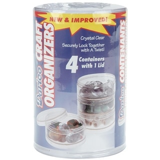 """Craft Organizers Stackable 2.75"""" Circles-Clear - CLEAR"""