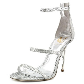 Vince Camuto Bayron Women Open Toe Leather Silver Sandals