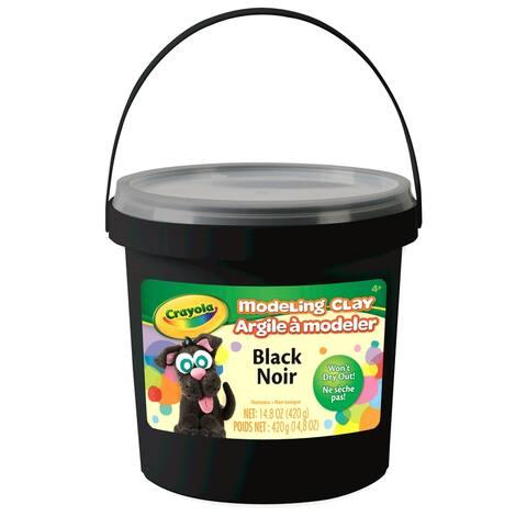 Modeling Clay 1 lb. Bucket, Black, 4 Buckets - Black - 1 lb.