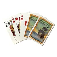 Pirate Ship - Lantern Press Artwork (Poker Playing Cards Deck)