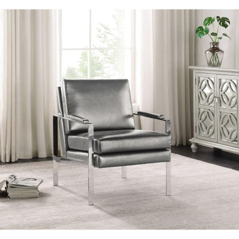Upholstered Padded Armrest Accent Chair