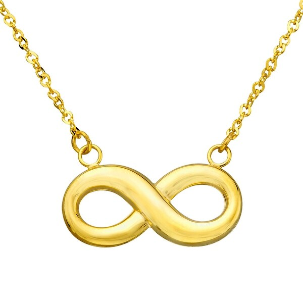 Eternity Gold Infinity Necklace in 14K Gold