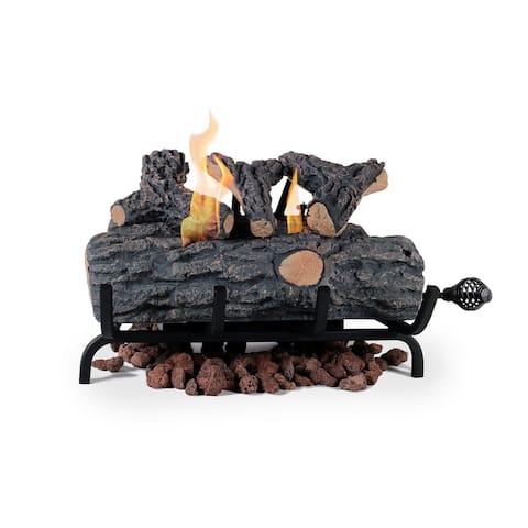 """Ventless Gel Fuel Fire Log Insert - Oak - 18"""""""