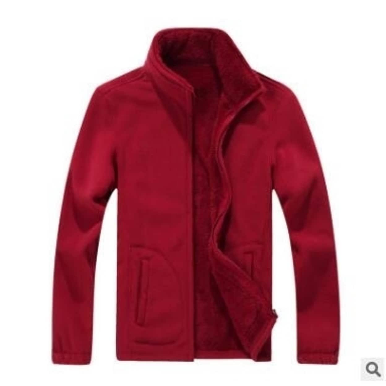 Men's Pullover Jackets Fleece Sweatshirt Wool Warm Thick Coats Outdoor Full  Zip Fleece Jacket - Overstock - 31154468