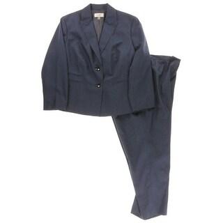 Le Suit Womens Plus Pant Suit 2 PC Textured - 24W