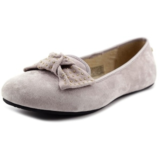 Ugg Australia Alloway Studded Bow Women Round Toe Suede Gray Flats