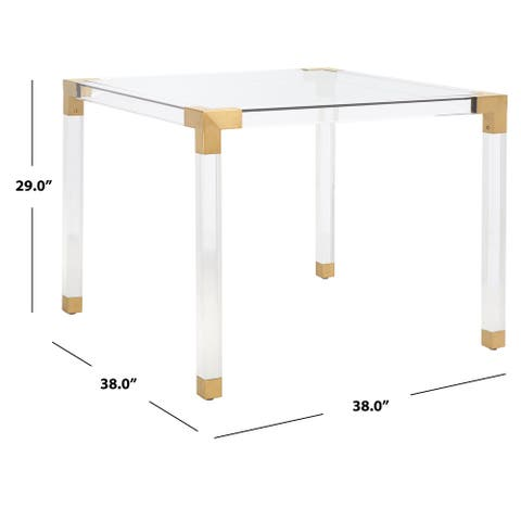"""SAFAVIEH Couture Evanna Square Acrylic Dining Table - 38"""" W x 38"""" L x 29"""" H"""
