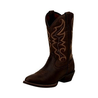 Justin Western Boots Mens Stampede Round Toe Long Cowboy Heel 2565