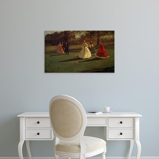 Easy Art Prints WInslow Homer's 'Croquet Players' Premium Canvas Art