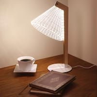 Led Table Lamp - Light Up Lampshade 3D Optical Illusion Design