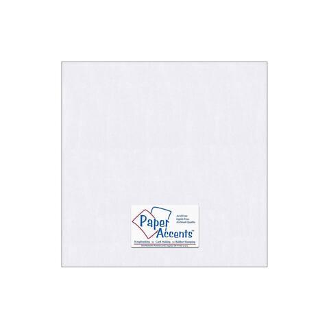 Paper Pearlized 12x12 80lb Bright White 5pc