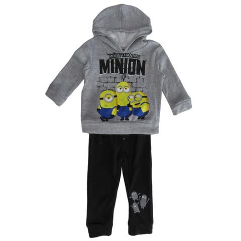 Illumination Grey Minions Hoodie 2 PC Jogger Set Little Boys