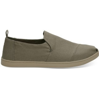 Toms Mens Deconstructed Alpargata, Burnt Olive Canvas