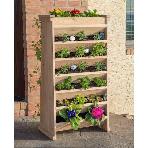 Vertical Natural Cedar Garden Planter