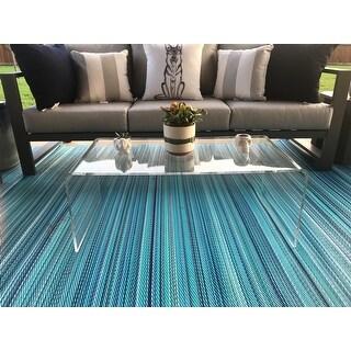 "Safavieh Atka Clear Acrylic Coffee Table - 35.4"" x 17.7"" x 13.8"""