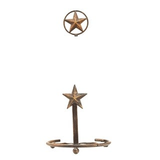 M&F Western Paper Towel Holder Country Texas Star Dark Brown
