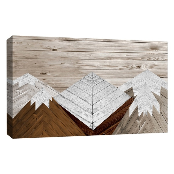 """PTM Images 9-126768 PTM Canvas Collection 10"""" x 8"""" - """"Wood Mountains II"""" Giclee Mountains Art Print on Canvas"""