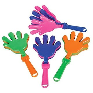 """12 Hand Clappers Noisemakers Favors 7.5"""" NEW"""