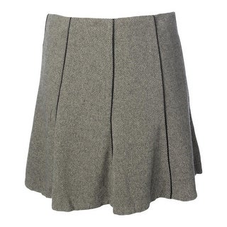 Lauren Ralph Lauren Womens Wool Faux Trim A-Line Skirt