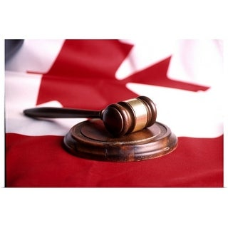"""""""Gavel and Canadian flag"""" Poster Print"""