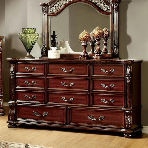 Furniture of America Ulis Traditional Brown Cherry 11-drawer Dresser