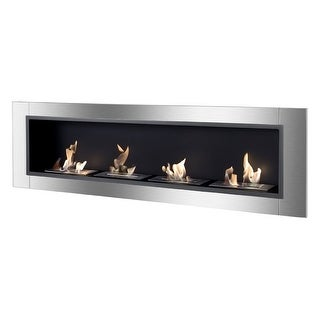 Ignis WMF-022-3 Accalia Wall Mounted / Recessed Ventless Ethanol Fireplace - black, stainless steel