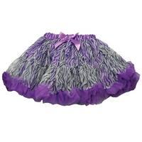 Reflectionz Purple Zebra Print Satin Bow Tutu Skirt Little Girl 2-6