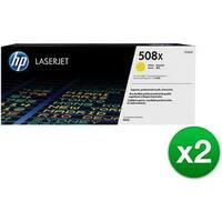 HP 508X High Yield Yellow Original LaserJet Toner Cartridge (CF362X)(2-Pack)