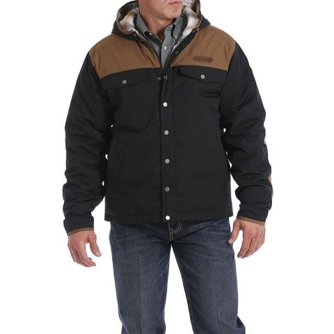 Cinch Western Coat Mens Barn Color Block Snap Multi-Color